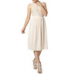 Dorothy Perkins - Blush embellished midi dress