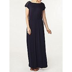 Dorothy Perkins - Navy lace maxi dress