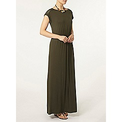 Dorothy Perkins - Khaki lace maxi dress