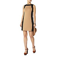 Dorothy Perkins - Camel and black pinafore dress