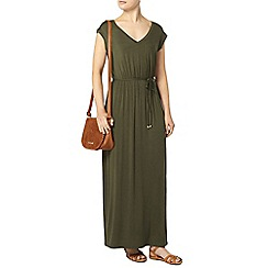 Dorothy Perkins - Khaki v back maxi dress