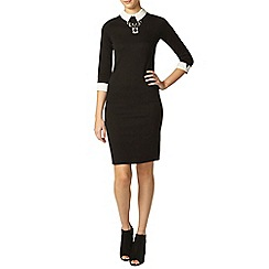 Dorothy Perkins - Tall black collar bodycon dress