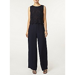 Dorothy Perkins - Navy lace jumpsuit