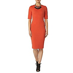 Dorothy Perkins - Coral textured bodycon dress