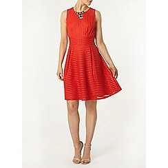 Dorothy Perkins - Coral stripe mesh dress