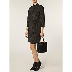 Dorothy Perkins - Tall: black star print shirt dress