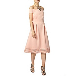 Dorothy Perkins - Peach bardot midi dress