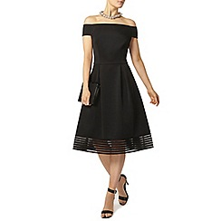 Dorothy Perkins - Black bardot midi dress