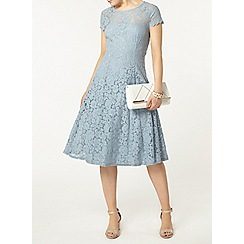 Dorothy Perkins - Grey lace scallop midi dress