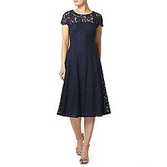 Dorothy Perkins - Navy scallop midi dress
