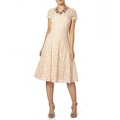 Dorothy Perkins - Peach lace midi dress