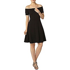 Dorothy Perkins - Tall black bardot fit and flare dress