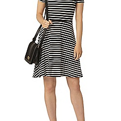 Dorothy Perkins - Tall striped bardot fit and flare dress