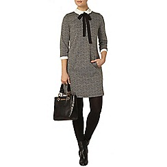 Dorothy Perkins - Grey frill 2 in 1 shift dress