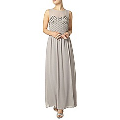 Dorothy Perkins - Grey embellished bodice maxi dress
