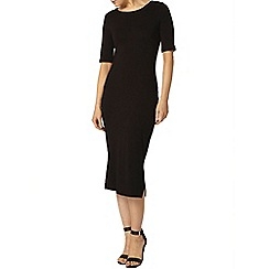 Dorothy Perkins - Black midi bodycon dresswith side splits