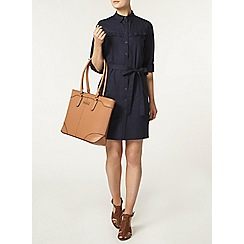 Dorothy Perkins - Navy cotton poplin shirt dress