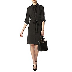Dorothy Perkins - Tall mono spot tie neck dress