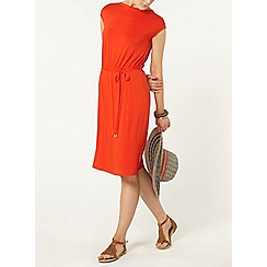 Dorothy Perkins - Red v back midi dress