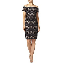 Dorothy Perkins - Navy lace bardot pencil dress