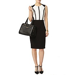 Dorothy Perkins - Ivory and black ladder pencil dress