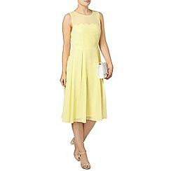 Dorothy Perkins - Lemon scallop detail midi dress