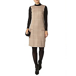 Dorothy Perkins - Camel check 2 in 1 shift drees