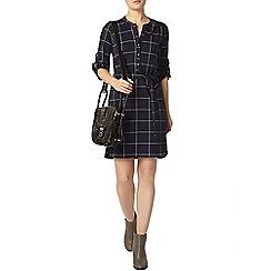 Dorothy Perkins - Navy check shirt dress