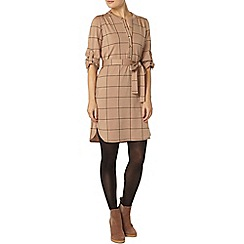 Dorothy Perkins - Camel check shirt dress