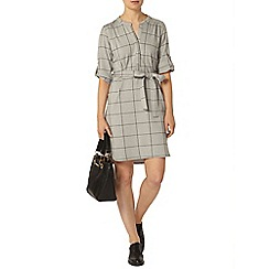 Dorothy Perkins - Grey check shirt dress