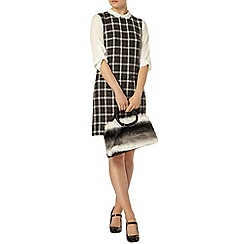 Dorothy Perkins - Grey check collar 2 in 1 shift dress