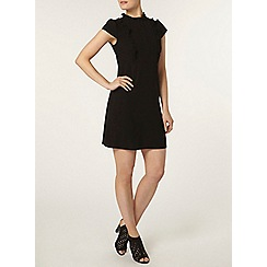 Dorothy Perkins - Black frill fit and flare dress