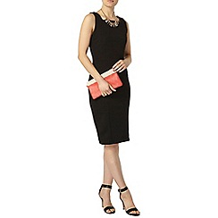 Dorothy Perkins - Black zip pencil dress