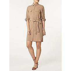 Dorothy Perkins - Camel shirt dress