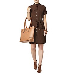 Dorothy Perkins - Chocolate shirt dress