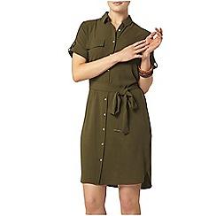 Dorothy Perkins - Khaki short sleeve shirt dress