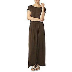 Dorothy Perkins - Khaki wrap maxi dress