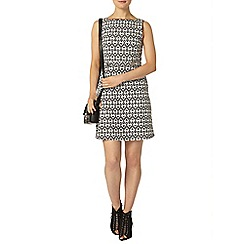 Dorothy Perkins - Mono heart tabbard pinny dress