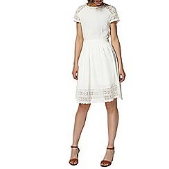 Dorothy Perkins - Ivory lace fit and flare dress