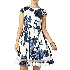 Dorothy Perkins - Navy floral sateen dress