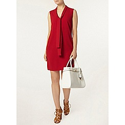 Dorothy Perkins - Raspberry tie neck shift dress
