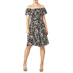 Dorothy Perkins - Peach ditsy floral print fit and flare dress
