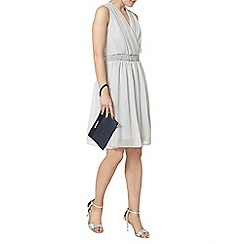 Dorothy Perkins - Grey embellished waist dress