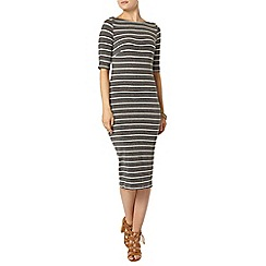 Dorothy Perkins - Grey stripe rib bodycon