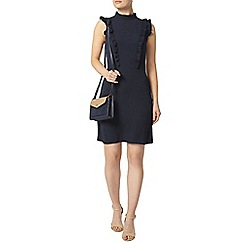 Dorothy Perkins - Navy frill fit and flare