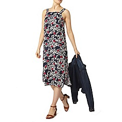 Dorothy Perkins - Navy floral pinny dress