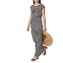 Dorothy Perkins - Chocolate and ivory stripe maxi dress