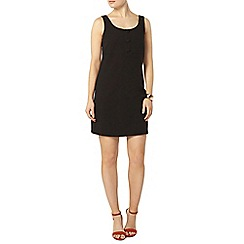 Dorothy Perkins - Black crepe button front pinafore dress