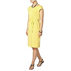 Dorothy Perkins - Yellow v back midi dress