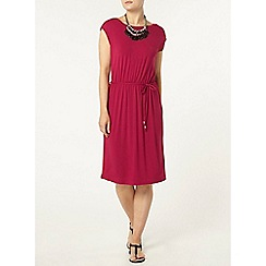 Dorothy Perkins - Fuschia v back midi dress